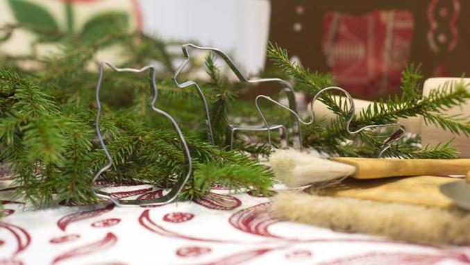 Julmingel i butiken