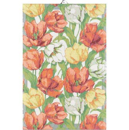 Handduk - Blommande tulpaner