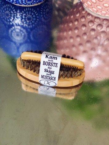 Skäggborste med mustaschkam