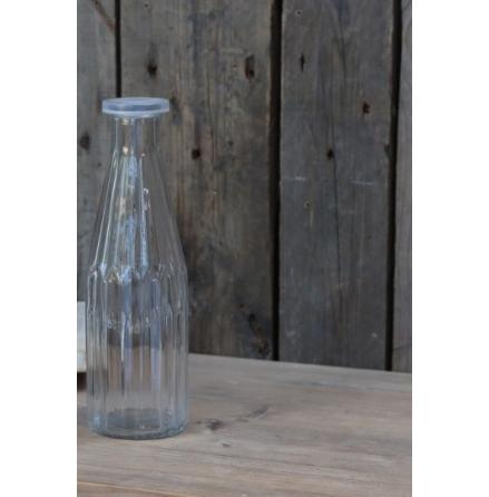 Glasflaska med lock