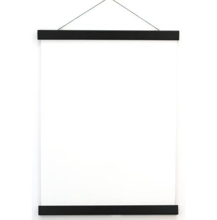 Affischlist med magnet, trä/svart