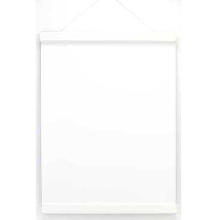 Affischlist med magnet, trä/vit