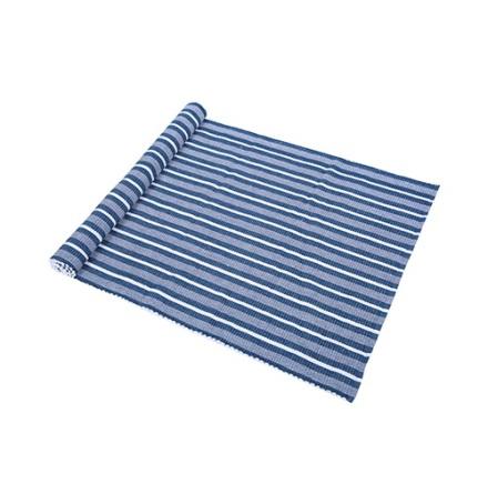 Ripsmatta Carl 70x160 blå/vit