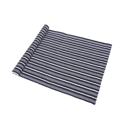 Ripsmatta Carl 70x160 svart/silver