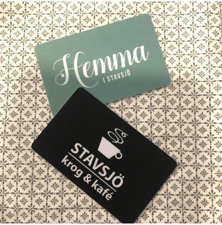 Presentkort - Hemma i Stavsjö