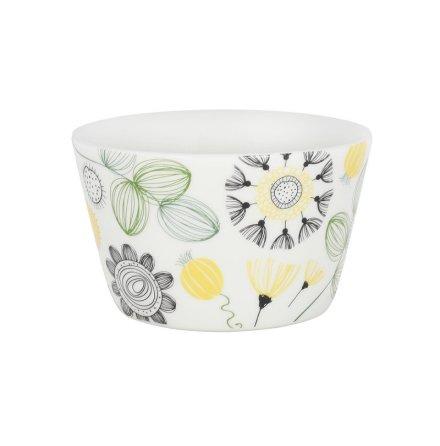 Frukostskål blomma gul