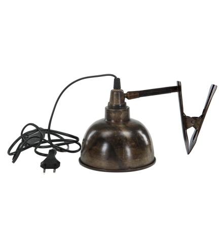 Lampa clip brun antik