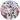 Rund bricka rosa blom