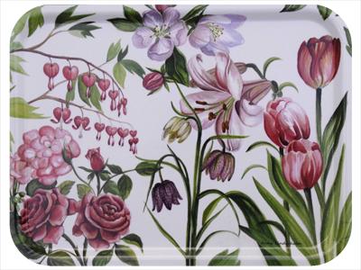 Bricka rosa blom (stor)